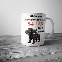 When You Accidentally Ask Satan for a Puppy Mug