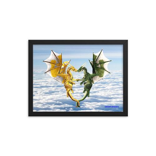 Dragon Lovers Framed Poster