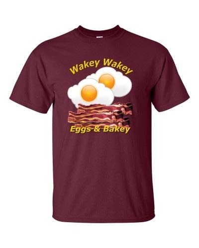 Wakey Wakey Eggs & Bakey (Maroon)