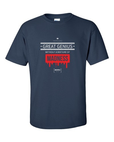 Great Genius Includes Madness (navy)