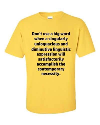 Don't Use Big Words T-Shirt (daisy)