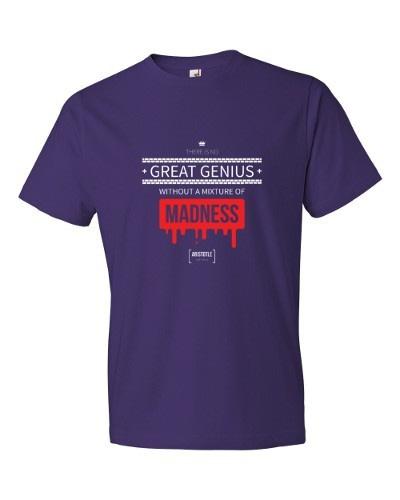 Great Genius Includes Madness (purple)