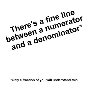 Only a Fraction Will Understand This