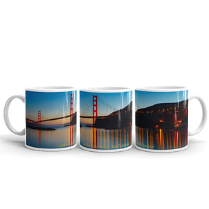 Golden Gate Bridge Sunset Panorama Mug