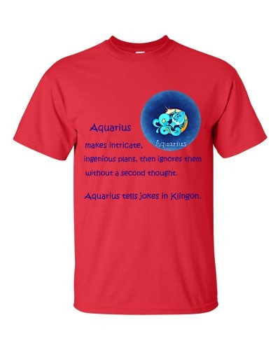 Aquarius T-Shirt (red)