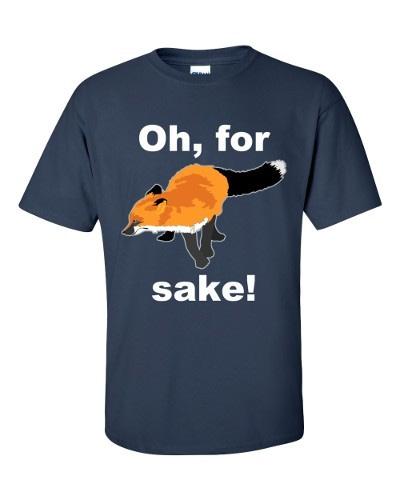 Oh For Fox Sake T-Shirt (navy)